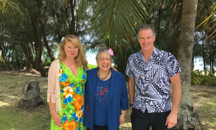 Speaker of the Cook Islands Parliament Niki Rattle (center), with Ambassador Scott Brown and Mrs. Gail Brown. Photo credit: U.S. Department of State.