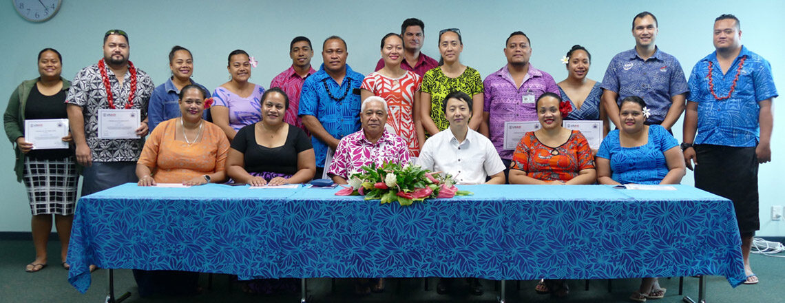 USAID Project Management Graduates in Samoa