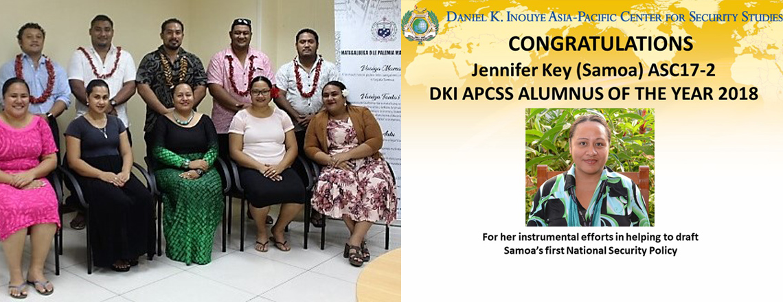 Fiso Jennifer Key -Asia-Pacific Center for Security Studies Alumnus of the Year