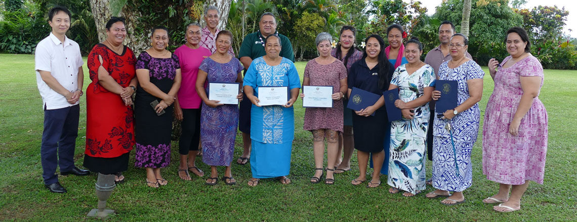 Embassy Apia Small Grants Recipients 2020