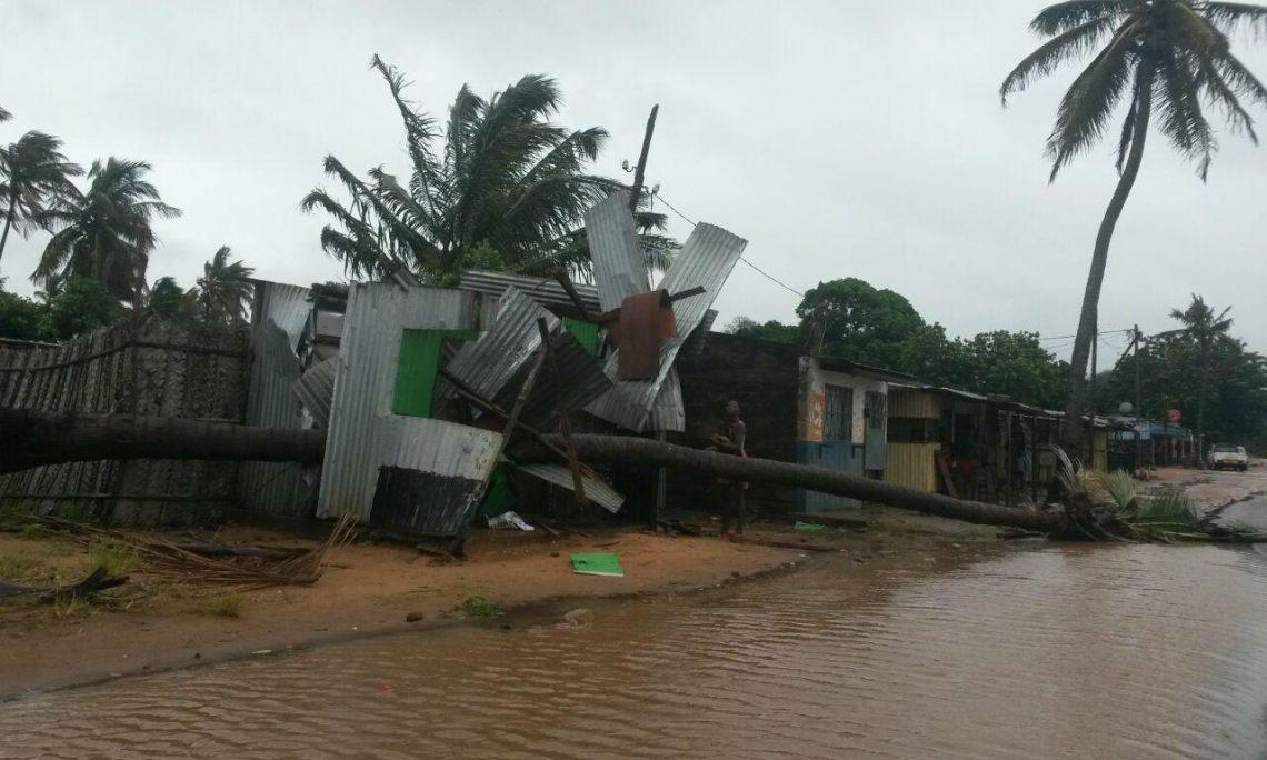 Ciclone Dineo faz estragos no sul de Moçambique