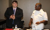 US Embassy Chargé d'Affaires Bryan Hunt and Mozambique Navy Commander, Rear Admiral Eugénio Dias da Silva Muatuca,