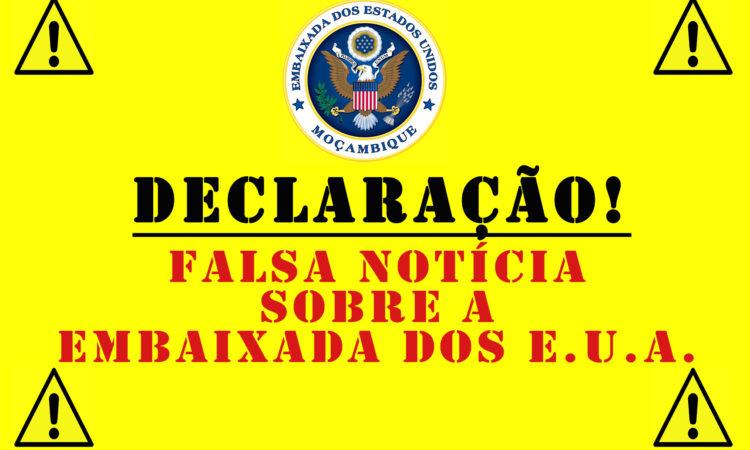 Declaração da Embaixada sobre Falsas Notícias quanto ao Funcionamento da Embaixada dos E.U.A. em Moçambique