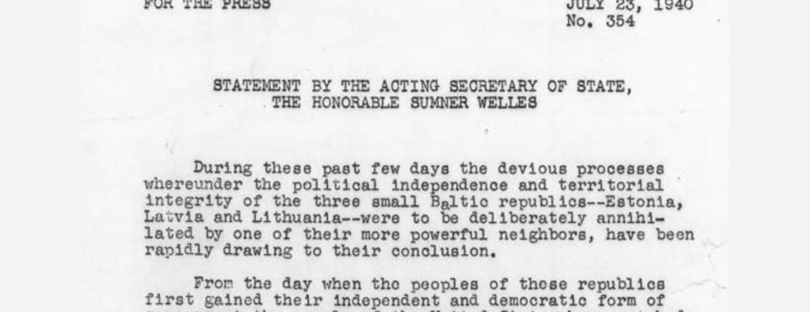 Today Is the 80th Anniversary of the Welles Declaration!
