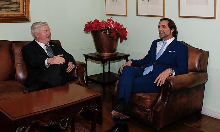 Embaixador Glass com o Presidente do G.R. da Madeira Miguel Alboquerque
