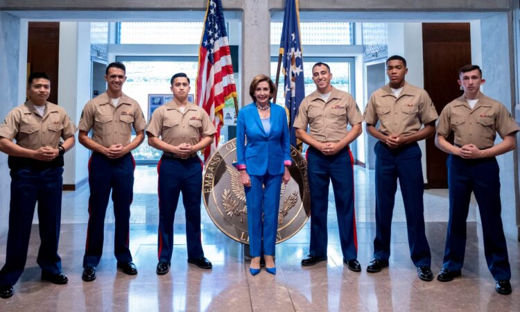 Speaker Pelosi and Marines