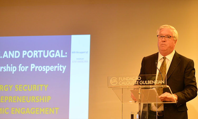 "Ambassador Glass speaking at the Conference ""The U.S. and cPortugal: a partnership for prosperity"" at Gulbenkian"