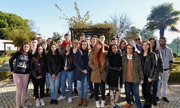 Foto de grupo dos alunos de Loures