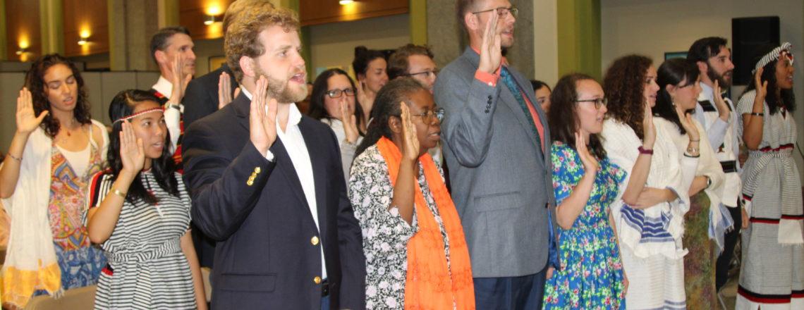 23 New Peace Corps Volunteers Sworn in at U.S. Embassy