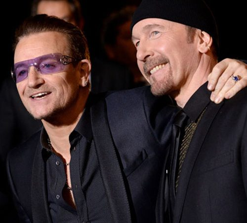 Bono and the Edge accepted the Palm Springs International Film Festival's Visionary Award this week on behalf of U2 with a speech on the power of activism and American bipartisan leadership in delivering more antiretroviral treatment to AIDS patients