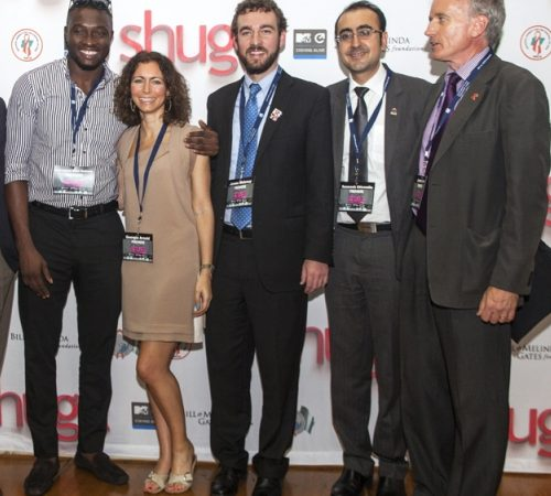 PEPFAR South Africa Coordinator Mr. James Maloney (Third from right) with MTV and University of Western Cape Officials and cast of Shuga