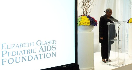 CDC South Africa Country Director Dr. Thurma Goldman at the Elizabeth Glaser Pediatric AIDS Foundation (EGPAF)