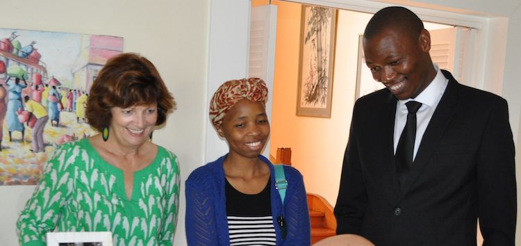 Consul General Frances Chisholm with returned Mandela Washington Fellows