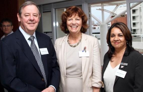 Richard Cookson (Garlicke & Bousfield ), Frances Chisholm (U.S. Consul General), Arthi Ramkissoon (MATCH)