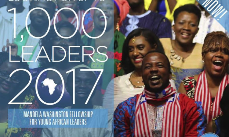 The 2017 Mandela Washington Fellowship for Young African Leaders application is now open!