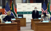 Ambassador Maud Dlomo, Deputy Director-General: Americas and Europe at the Department of International Relations and Cooperation (DIRCO), and United States Ambassador to South Africa Lana Marks.