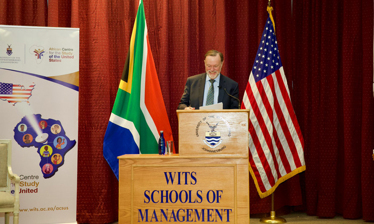 AssistantSecretary fo African Affairs Tibor Nagy delivers remarks at the University of the Witwatersrand Business School, Johannesburg.