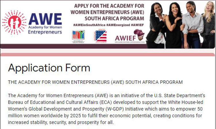 AWE is a great opportunity for women entrepreneurs across South Africa to gain university-level business and management training, strengthen their networks, and grow as entrepreneurs