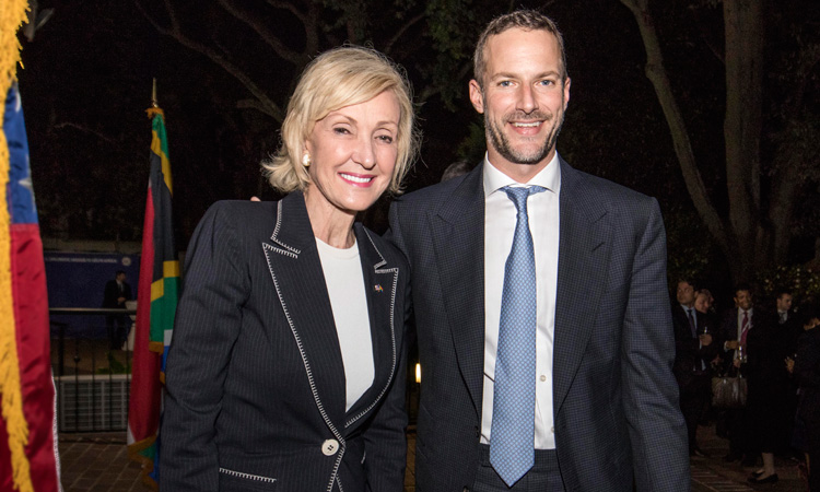 Ambassador-designate Lana Marks with CEO of the new U.S. International Development Finance Corporation, Mr. Adam Boehler