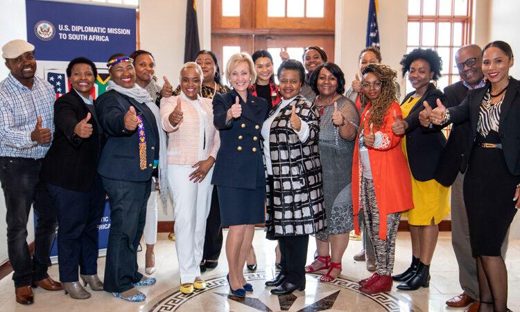 U.S. Ambassador Lana Marks and her team at the US Mission in Pretoria.