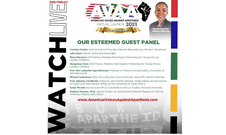 America's Voices Against Apartheid