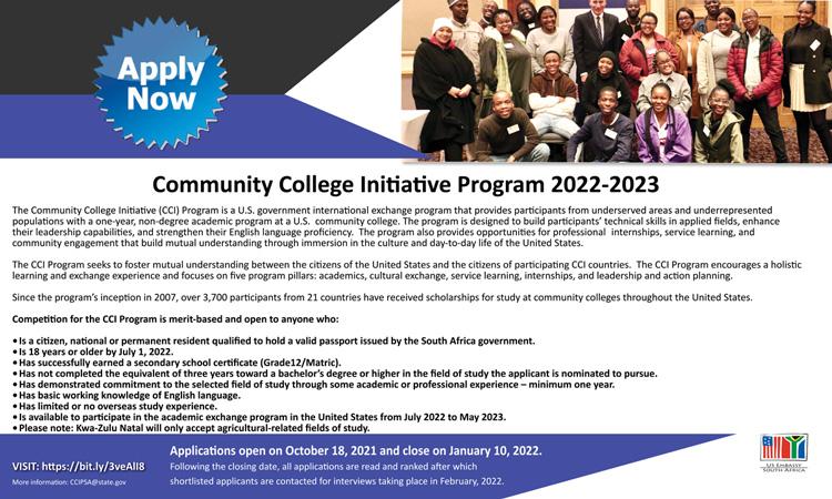 Comminity College Initiative Program Brochure