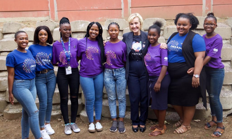 Ambassador Lana Marks meets with DREAMS participants in KZN in November 2019