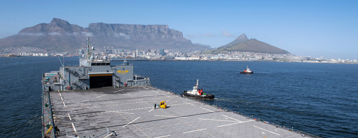 """USS Hershel """"Woody"""" Williams Returns to Cape Town to Strengthen Partnerships"""