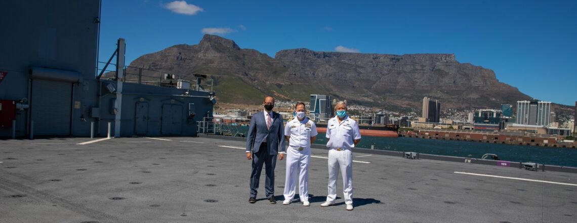 "U.S. Navy Vessel USS Hershel ""Woody"" Williams Visits the Port of Cape Town"
