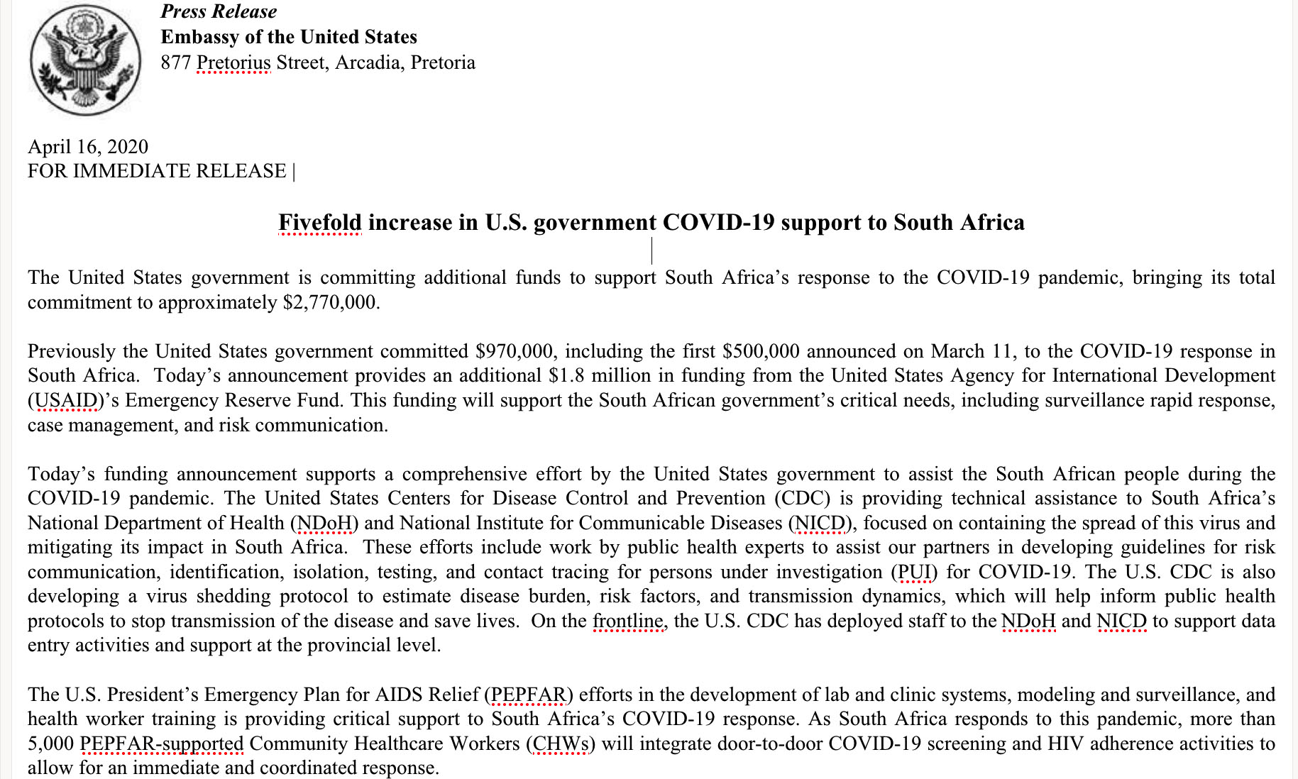 Fivefold Increase In U S Government Covid 19 Support To South Africa U S Embassy Consulates In South Africa,Christina Anstead Tarek El Moussa Wedding