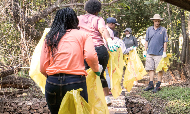 The United States Embassy held a clean-up at the Colbyn Valley Nature Area on Saturday, May 4.