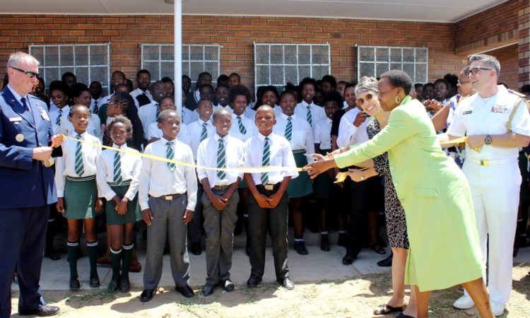 Ribbon Cutting Ceremony at Mzamowethu Combined School
