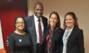 U.S. Consul General Sherry Sykes, Minister of Health Dr Zweli Mkhize, U.S. Charge d'Affaires Jessica Lapenn & PEPFAR Coordinator Dee Dee Downie