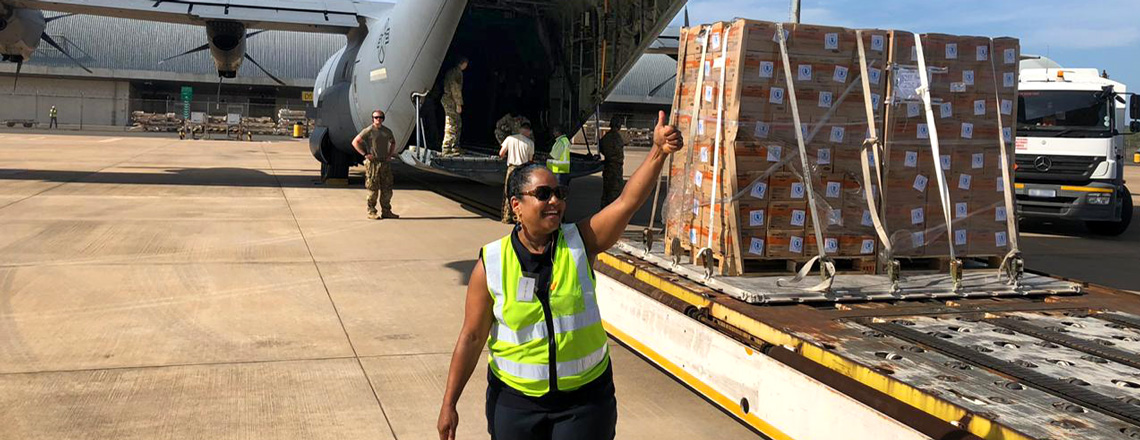 Airlift Support in South Africa for USAID-led Humanitarian Response to Cyclone Idai