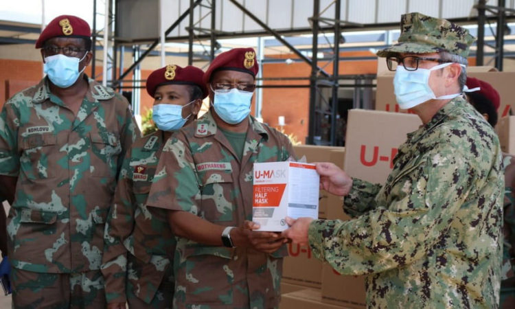 US donates protective masks to the SA Military Health Service