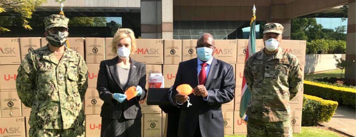 U.S. Government Donates 720,000 Protective Masks to South African Government