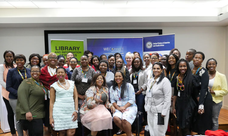 WOMEN in business were given training on perfecting their businesses during the Women in Business Connect Session at the Es'kia Mphahlele Community Library at Sammy Marks Square last week.