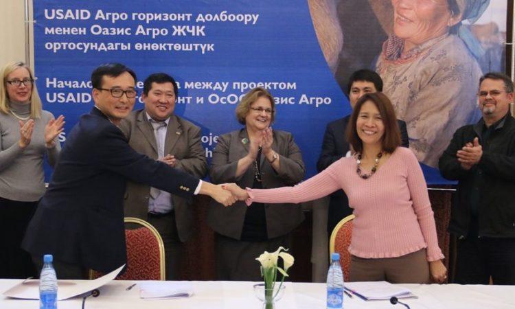 Жаңы шериктештик Кыргызстандын түштүгүндө сүт өндүрүшүнө дем берет