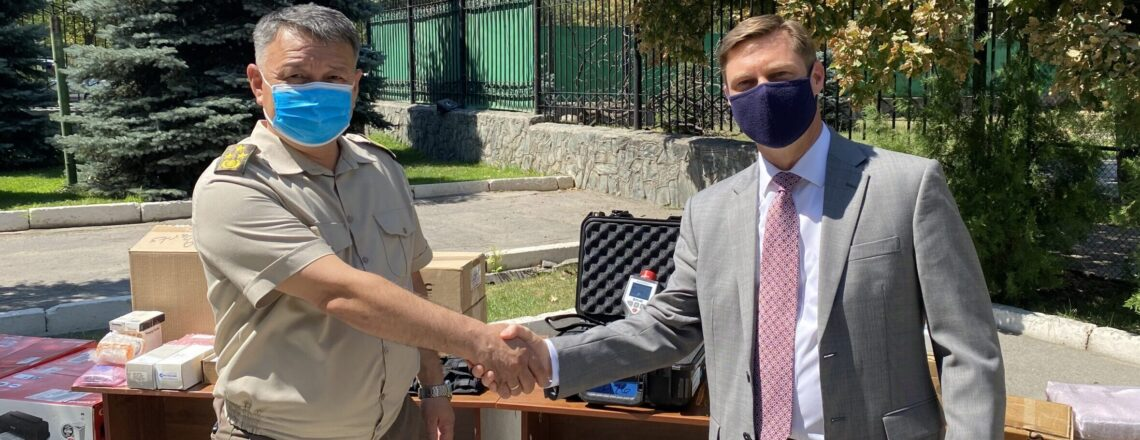 АКШ элчилиги Кыргызстандын чек ара коопсуздугун бекемдөө үчүн жабдууларды жеткирип берди