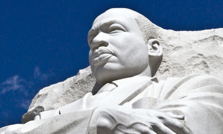 Statue at the Martin Luther King Jr. National Memorial in Washington, honoring the American Baptist minister, social activist and winner of the Nobel Peace Prize (State Dept.)
