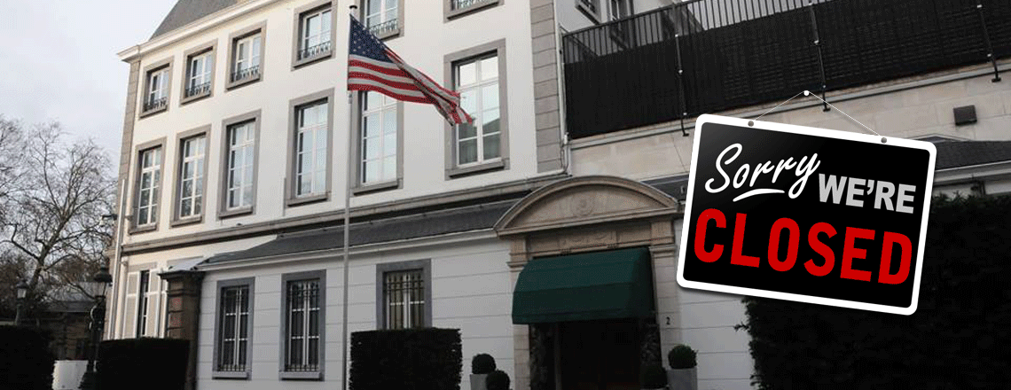 The U.S. Embassy will be closed on January 20, 2020