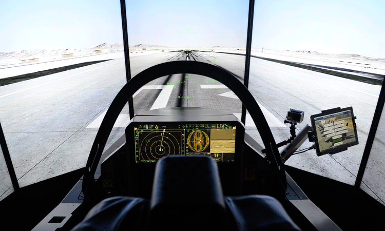 F-35 flight simulator