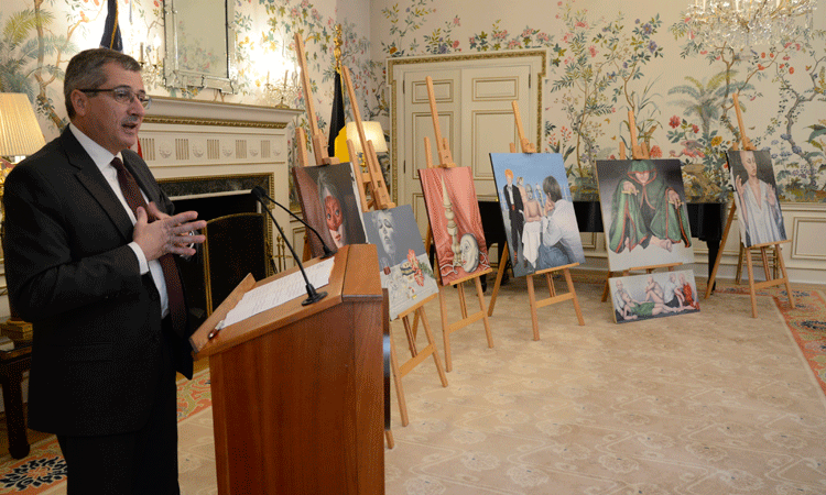U.S. Embassy repatriates stolen paintings of Belgian artist Agnes Lorca