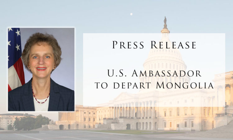 Press Release: Ambassador's Departure
