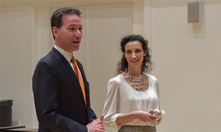 Ambassador Sterling at the Pianos Americanos performance (Embassy photo)