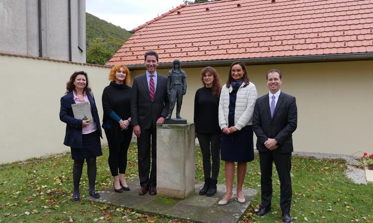 Ambassador Sterling at MR Stefanik's Museum in Kosariska (Embassy photo).