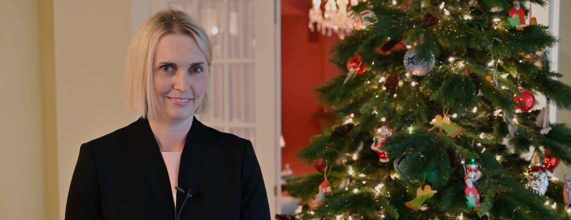 Ambassador Bridget Brink Wishes Happy Holidays 2019!
