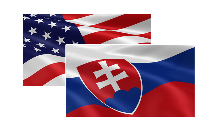 U.S. and Slovak Flags