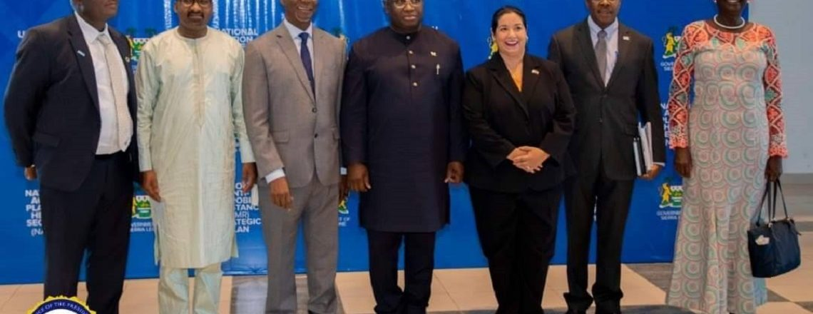 Ambassador Maria Brewer joined President Julius Maada Bio to launched (NAPHS)