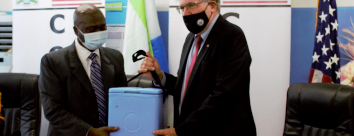 U.S. Donates over 113,000 COVID-19 Pfizer vaccines to Sierra Leone
